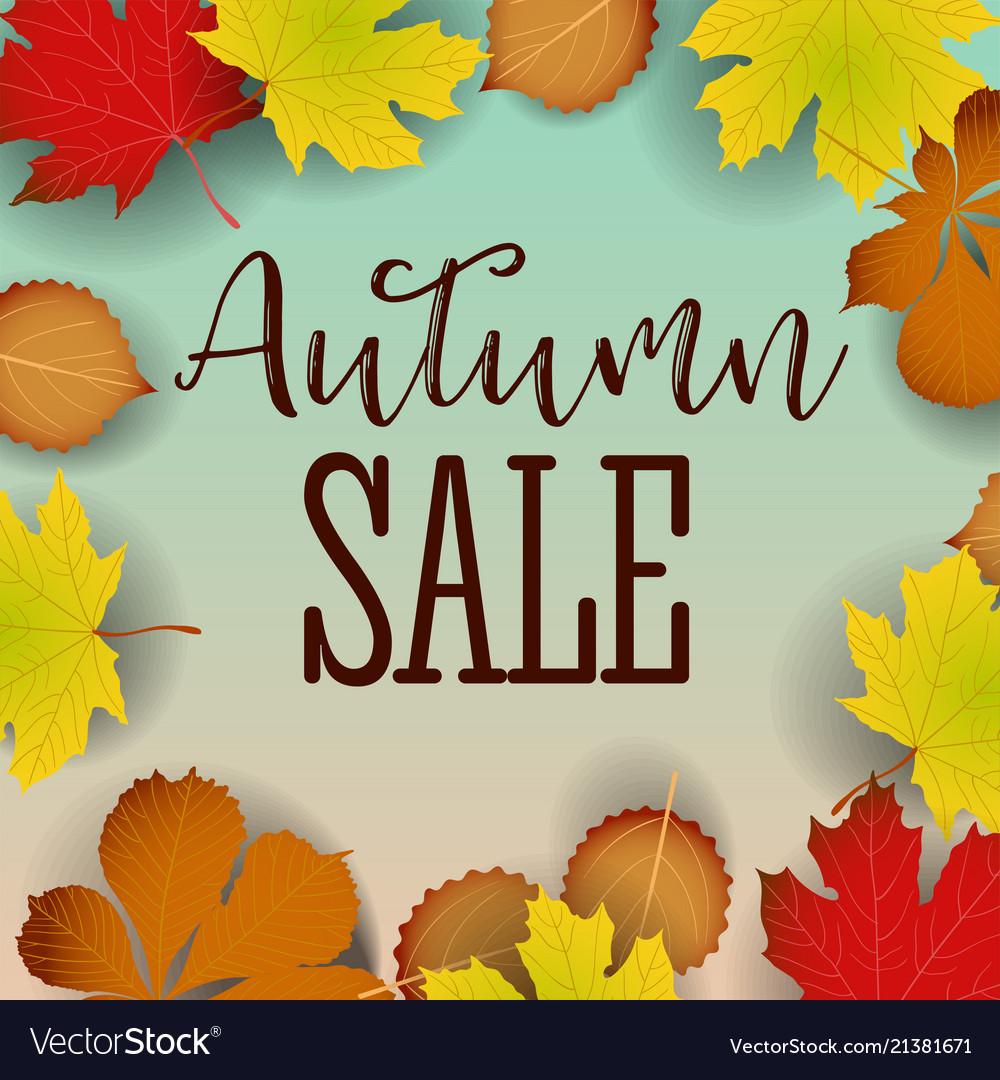 Autumn calligraphy seasonal letteringweb banner