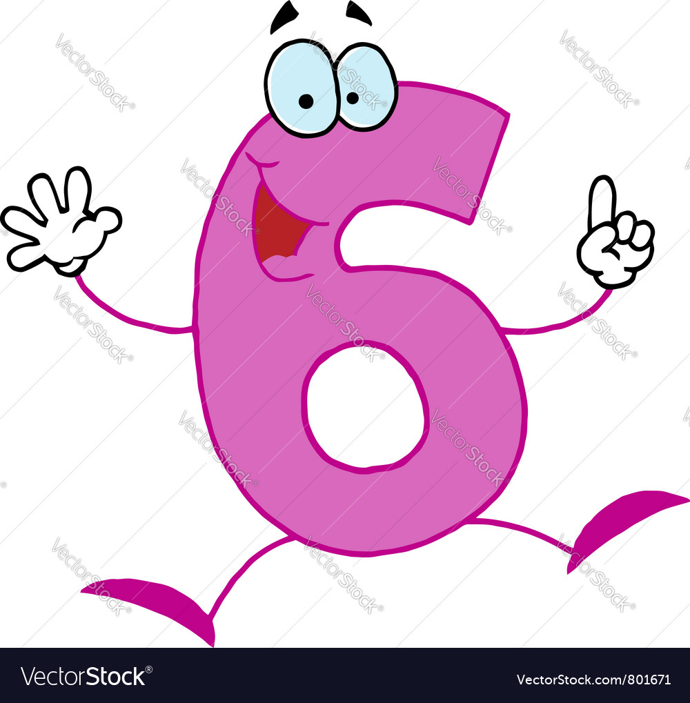 Funny Cartoon Numbers  Vector Image