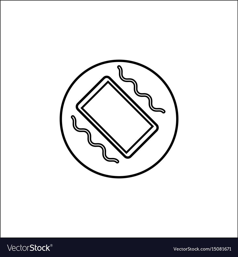 Phone vibration line icon mobile sign Royalty Free Vector