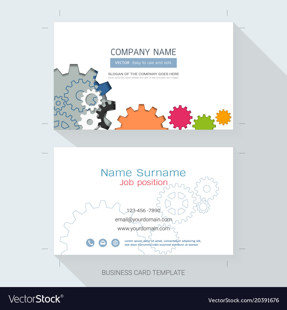 Engineering business card or name card template vector image friedricerecipe Gallery