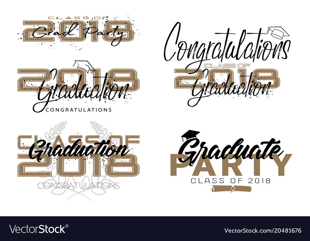 Graduation label text for graduation