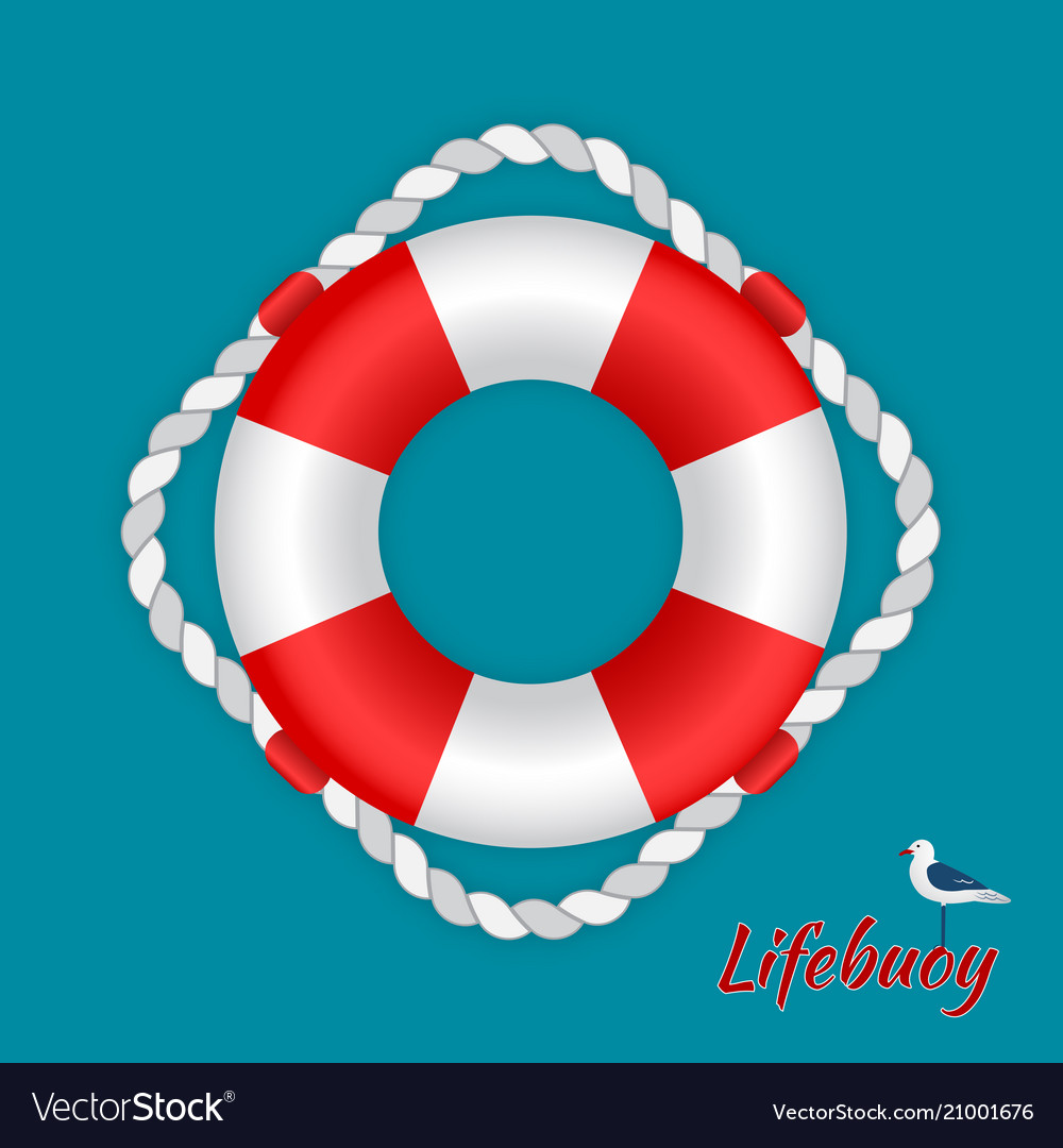 Lifebuoy with a seagull