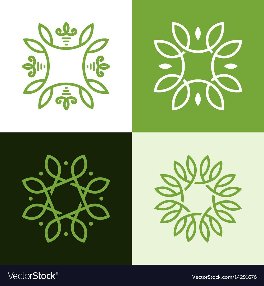 Monogram elegant logo icon design