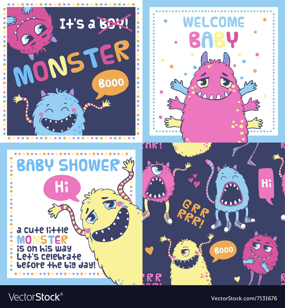 Monster party cards