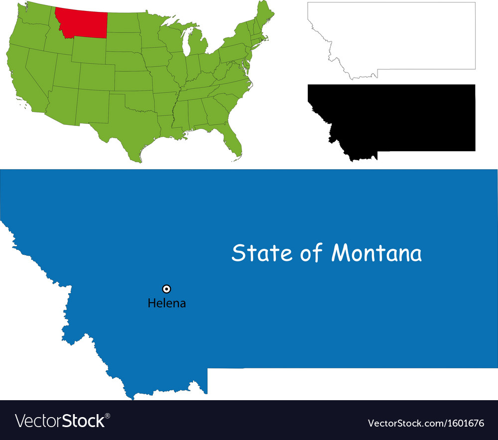 Montana Map Royalty Free Vector Image Vectorstock