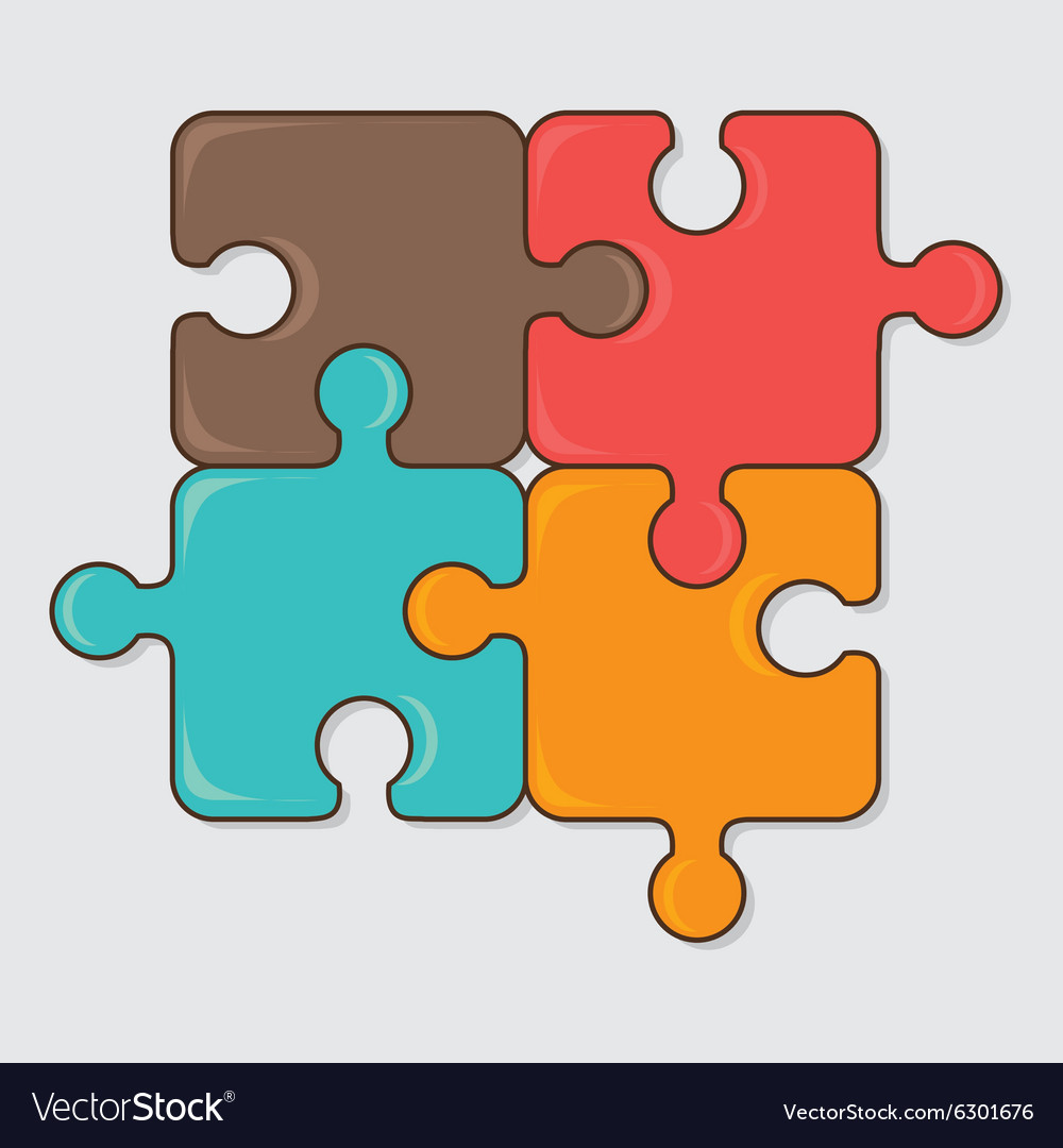 Puzzle game design vector image