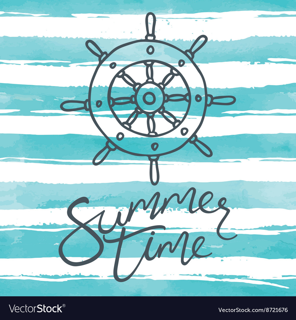 Summer time card with helm