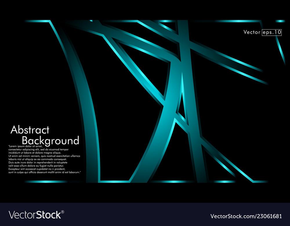 Blue light ribbon wave on a black background