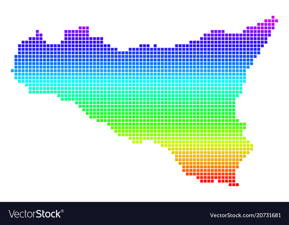 Bright dot sicilia map