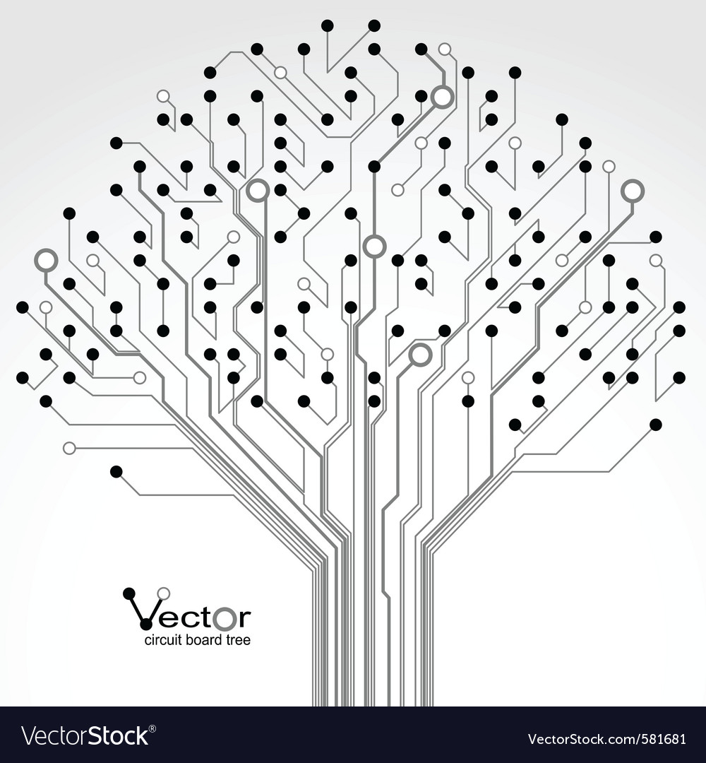 Circuit board pattern Royalty Free Vector Image