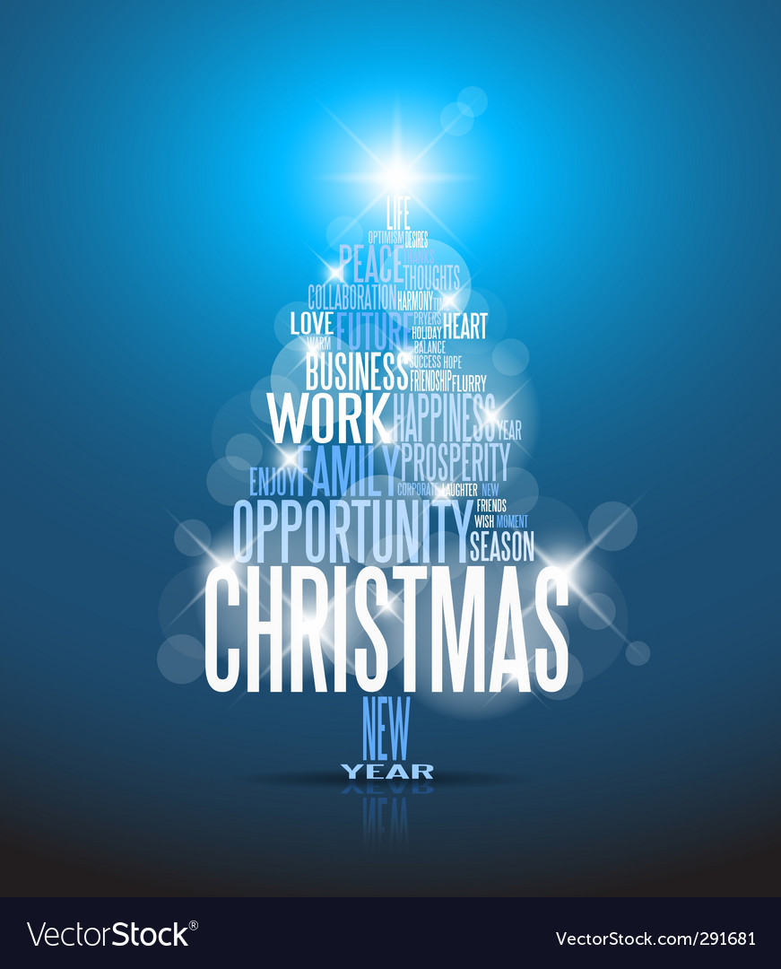 Corporate Christmas card Royalty Free Vector Image