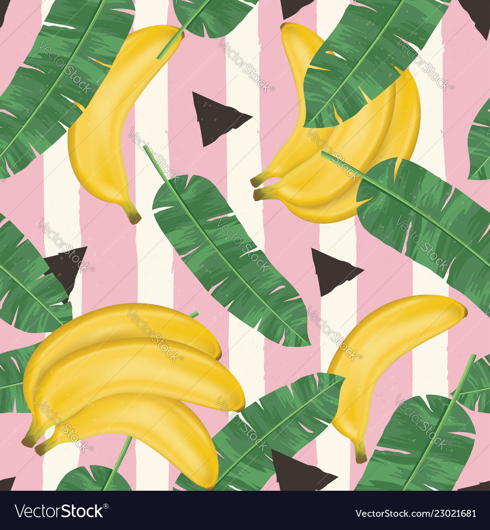 Fashionable seamless pattern with bananas