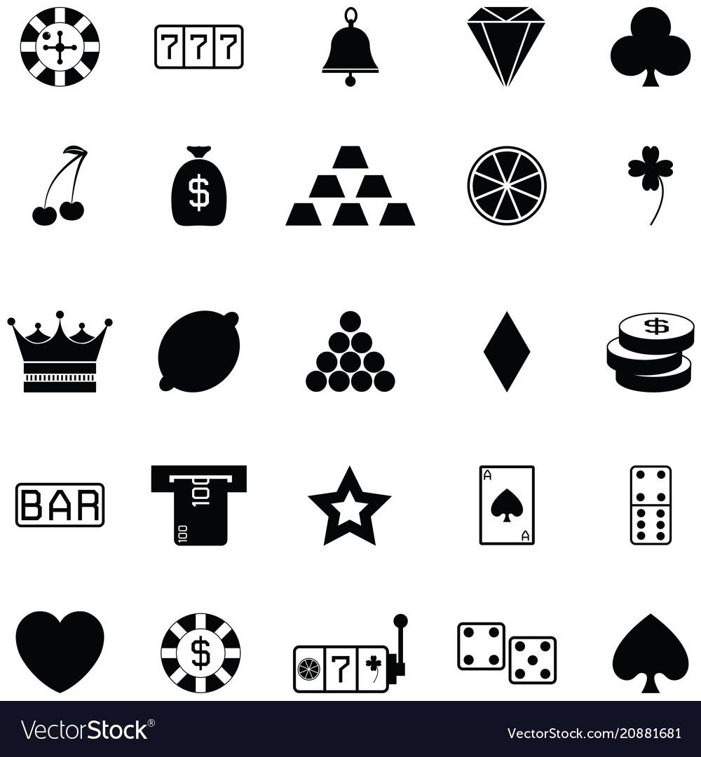 Gamble icon set