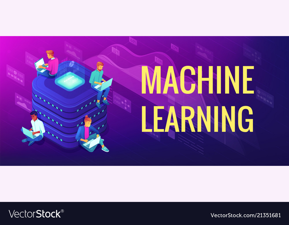 Isometric Machine Learning Concept Royalty Free Vector Image