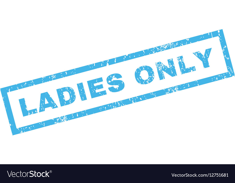 9d9f92e4fd Ladies Only Rubber Stamp Royalty Free Vector Image