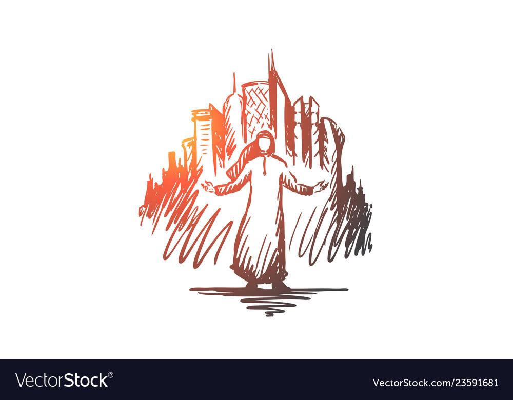 Megapolis big city businessman islam muslim