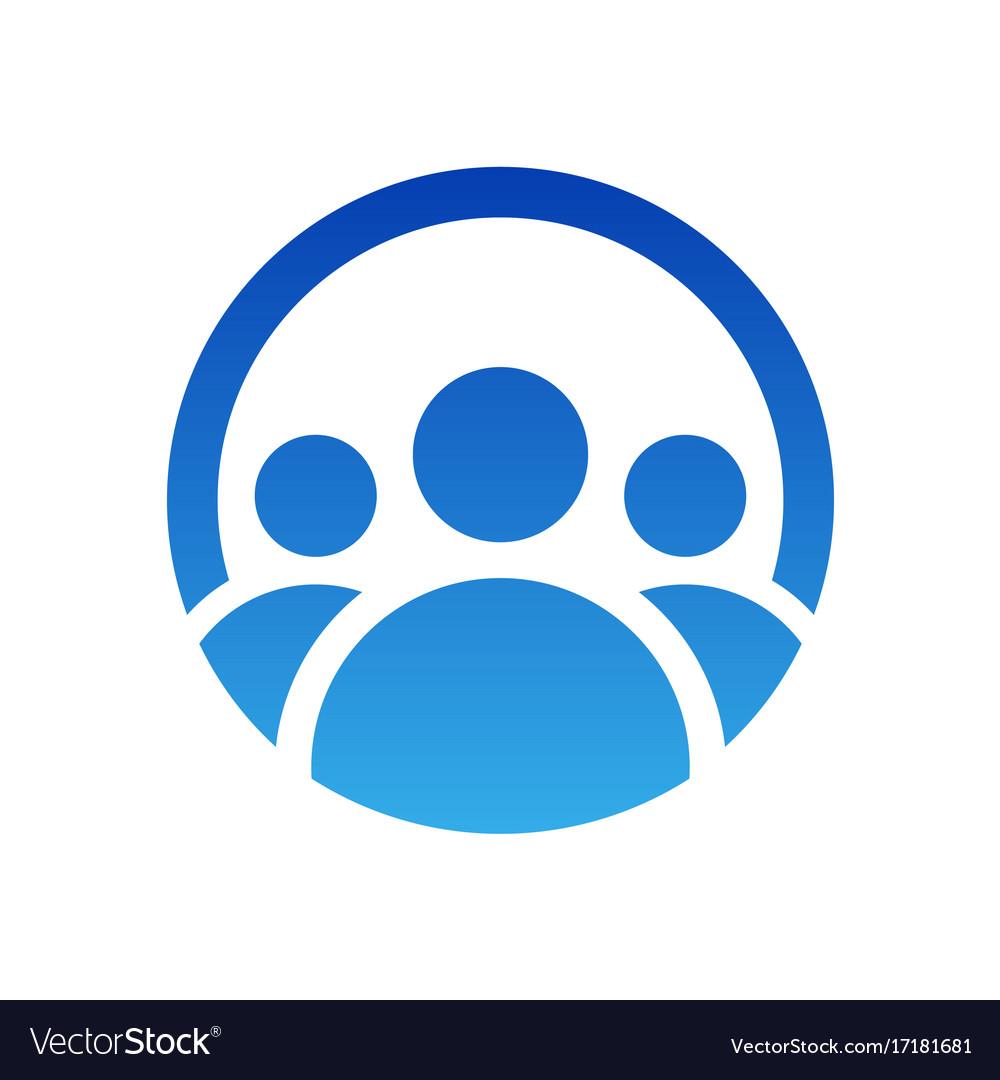 People group logo design icon