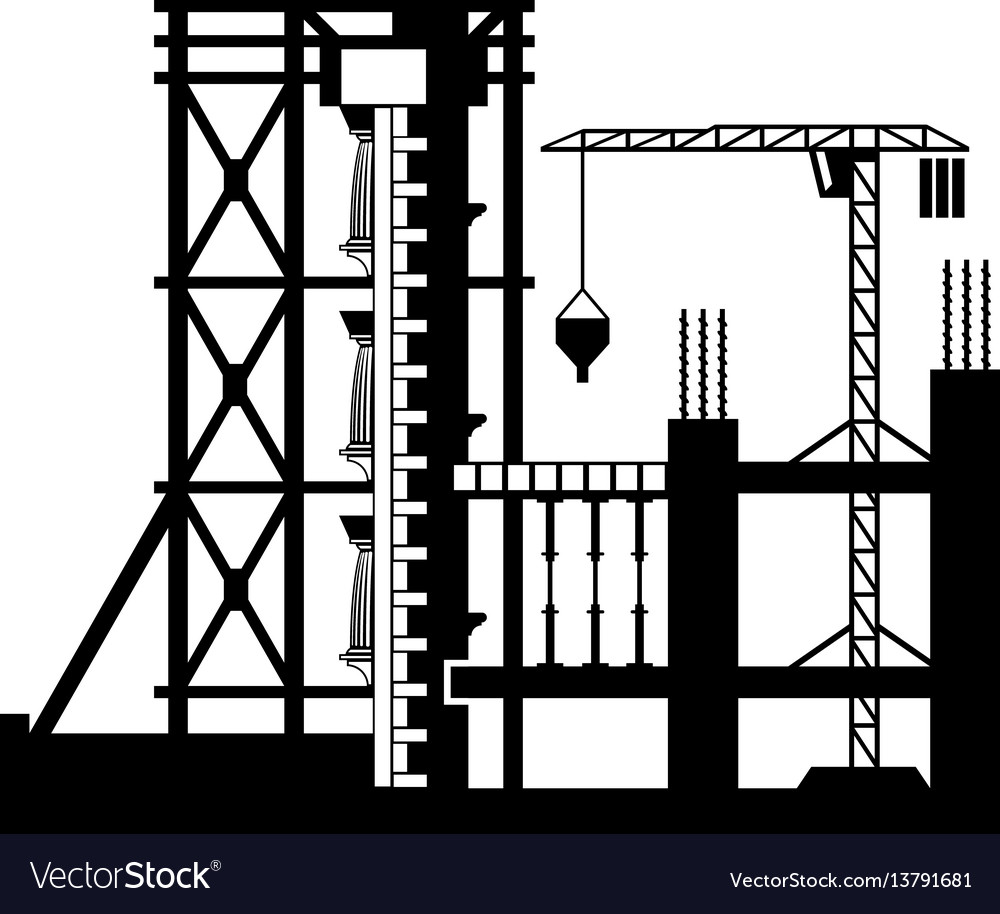 Strengthening of facades of buildings vector image
