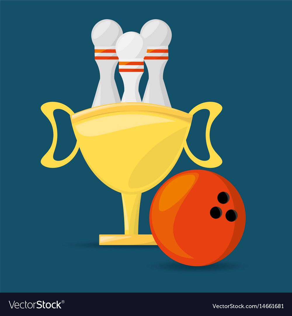 Trophy to win bowling game competition