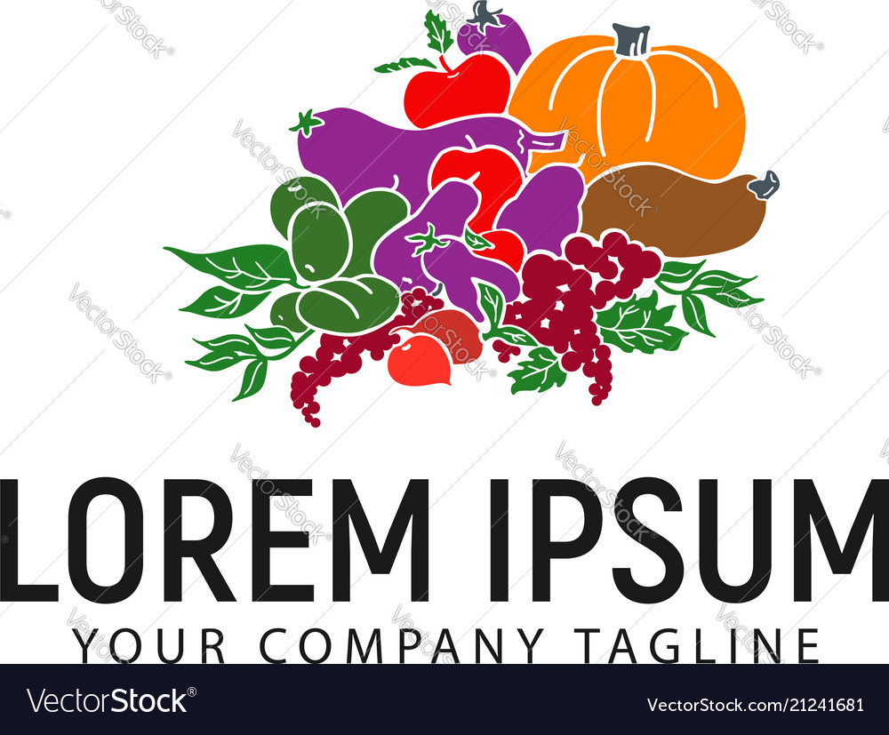Vegetables logo design concept template
