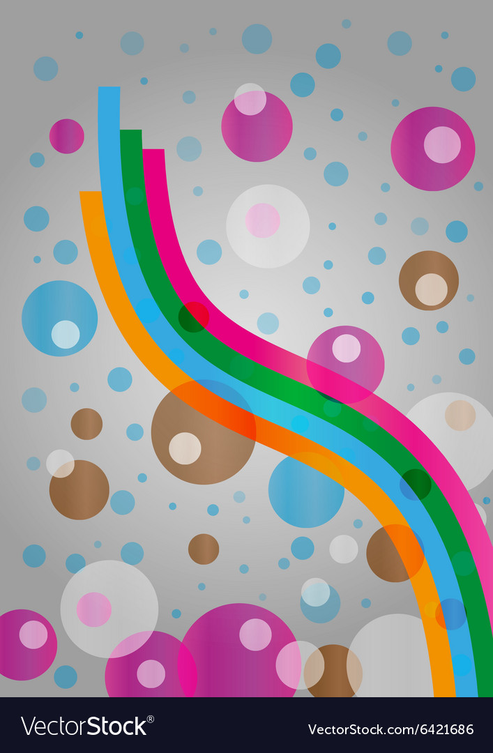 Abstract background with waved ribbons