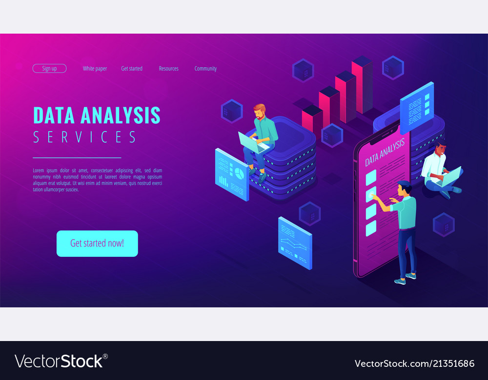 Data analysis services landing page
