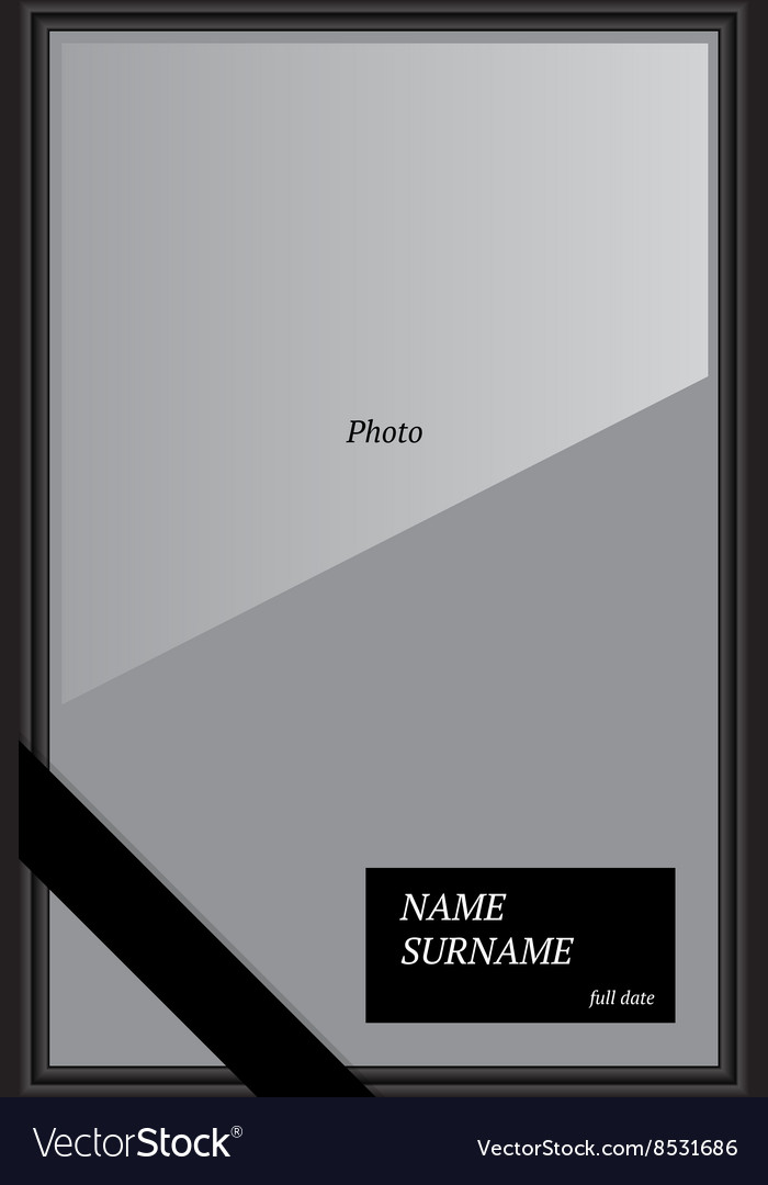 Frame for photo of deceased