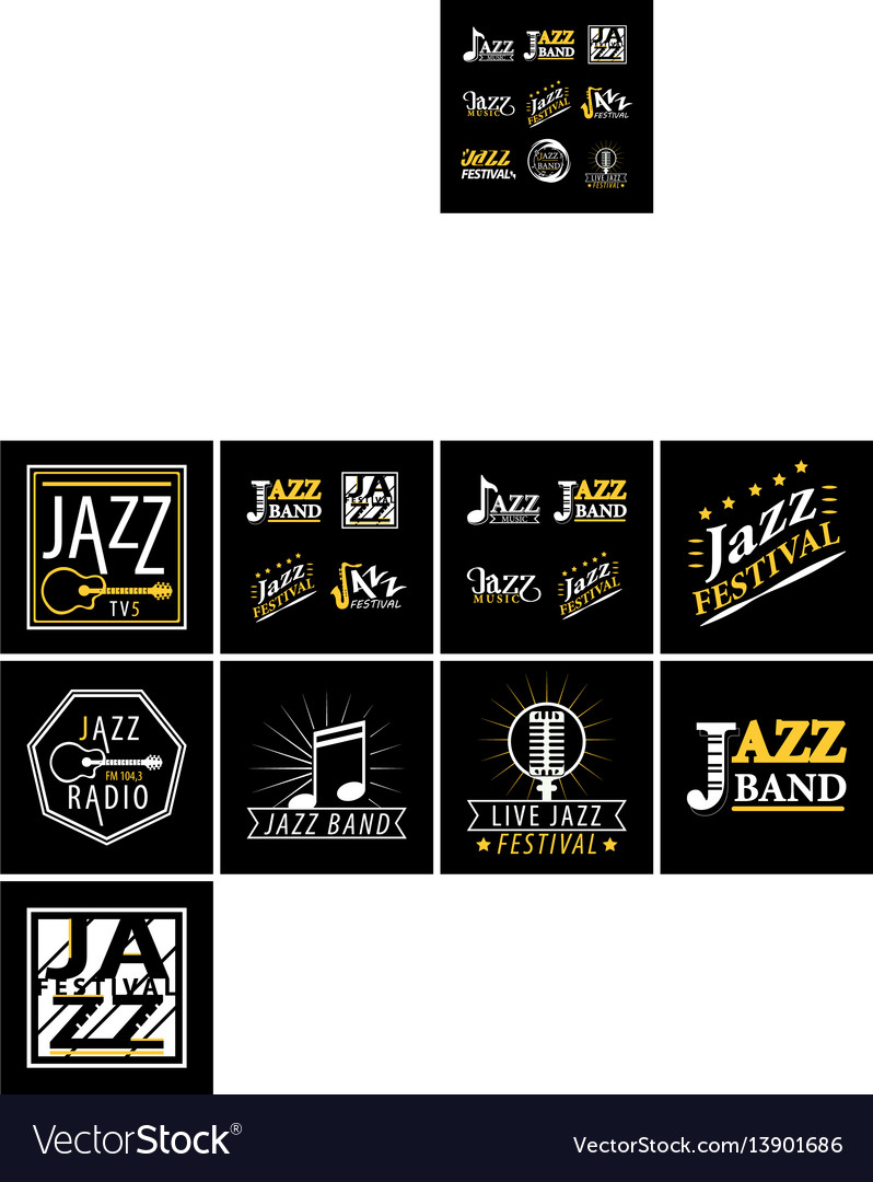 Jazz channel musical poster ot icon