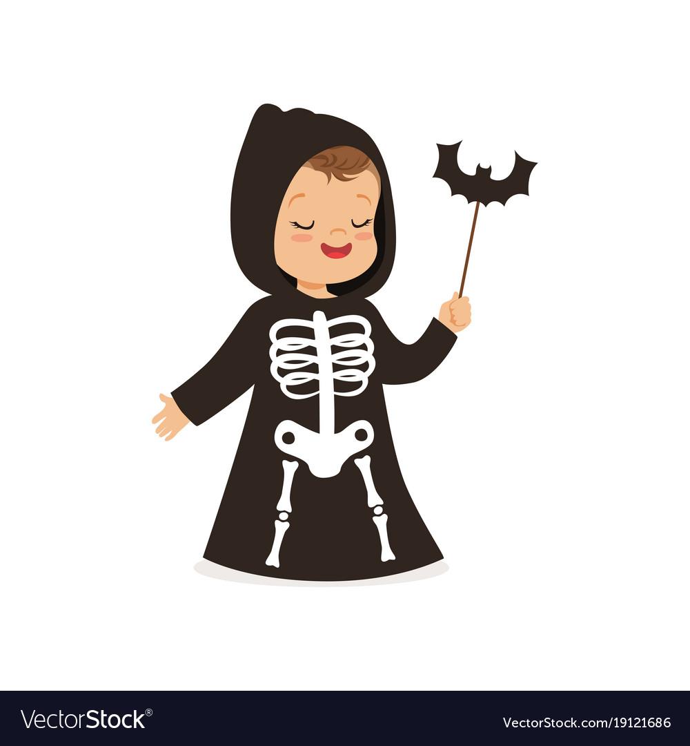 Little boy dressed as grim reaper cute kid in