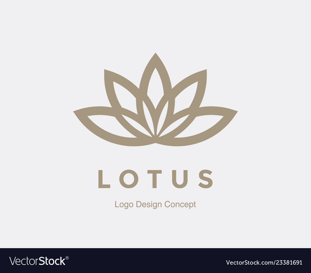 Abstract flower logo design creative lotus symbol