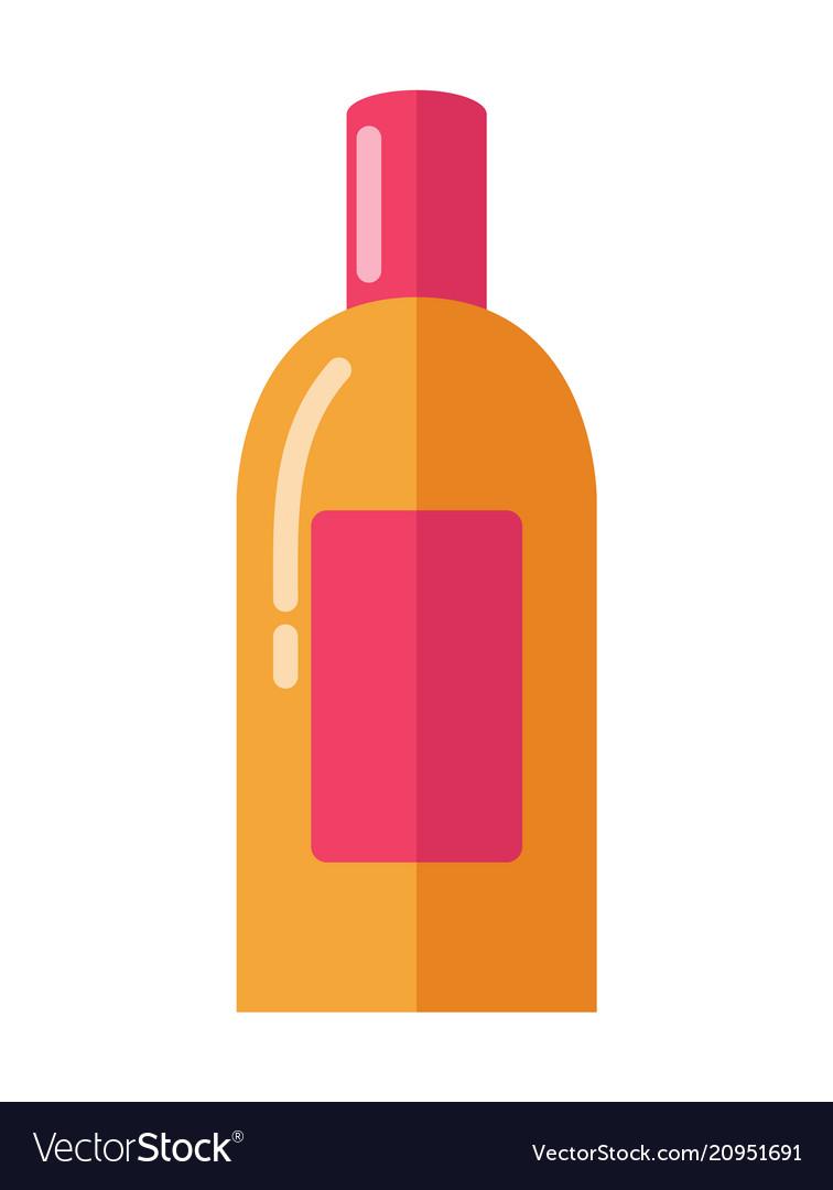 Big bright shiny bottle with soft skin moisturizer