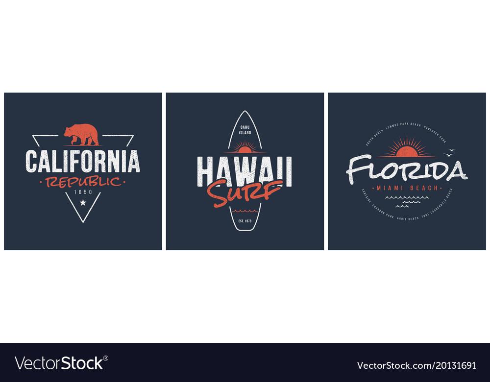 California republic hawaii surf and florida