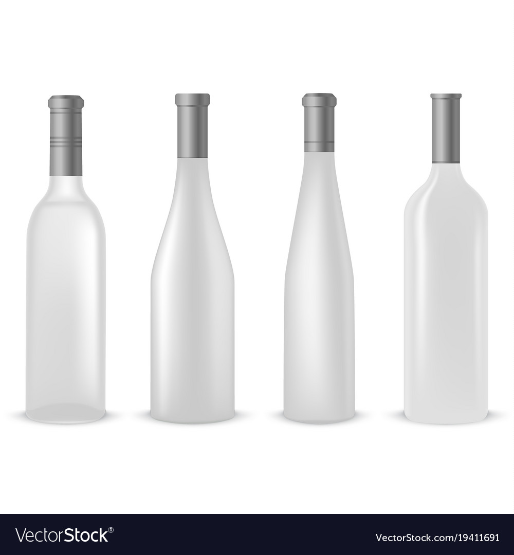 0c3ddf08d245 Collection of empty clear bottles of wine template