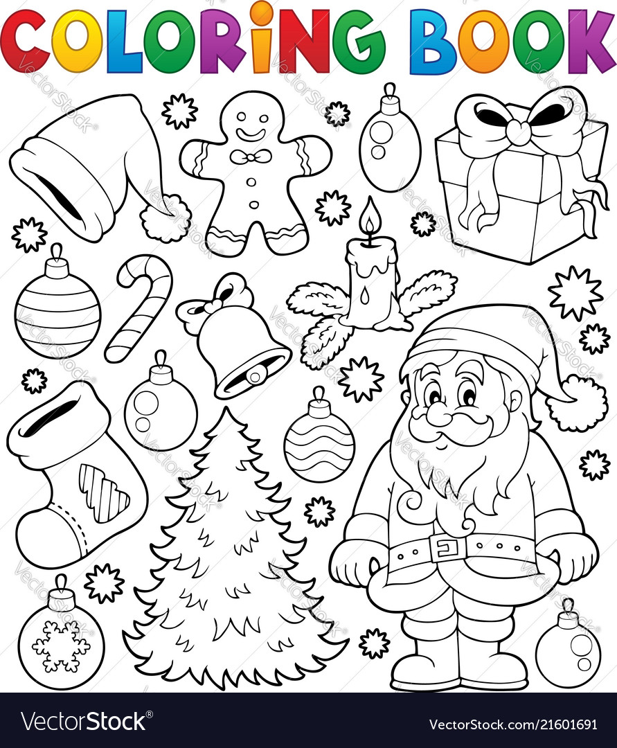 - Coloring Book Christmas Thematics 4 Royalty Free Vector