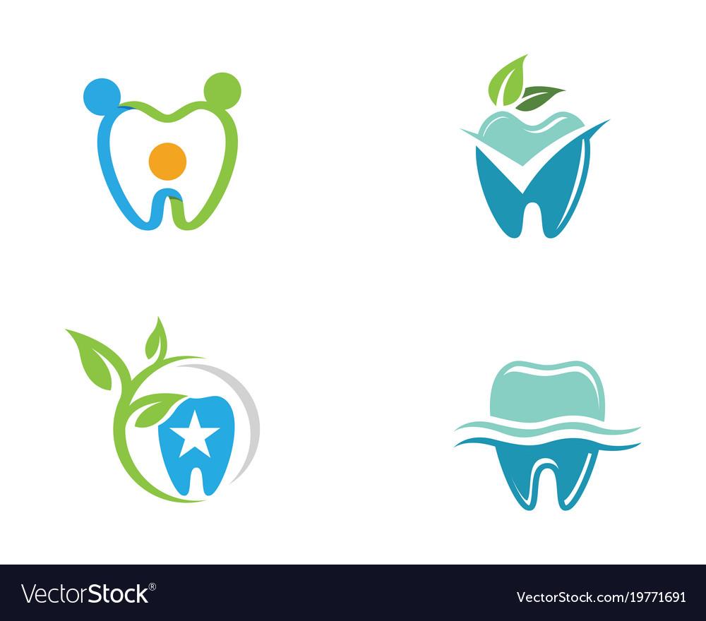dental logo template royalty free vector image