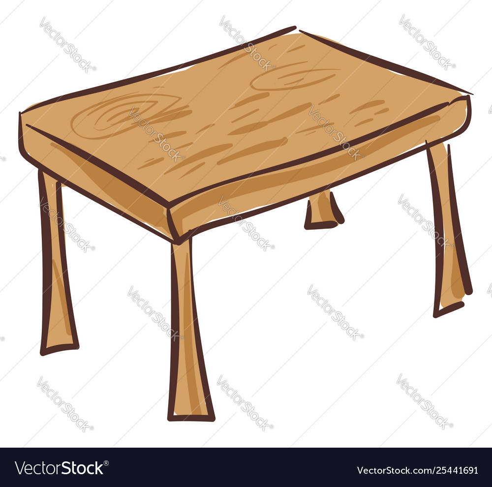 Enjoyable Drawing A Wooden Dining Table Or Color Home Interior And Landscaping Fragforummapetitesourisinfo