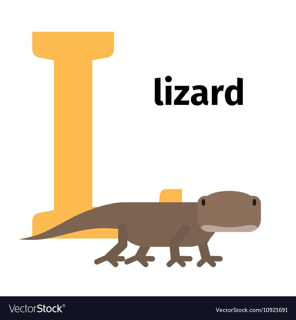 English animals zoo alphabet letter L
