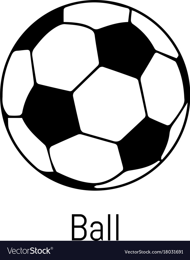 football ball icon simple black style vector image on vectorstock rh vectorstock com football vector image football vector free