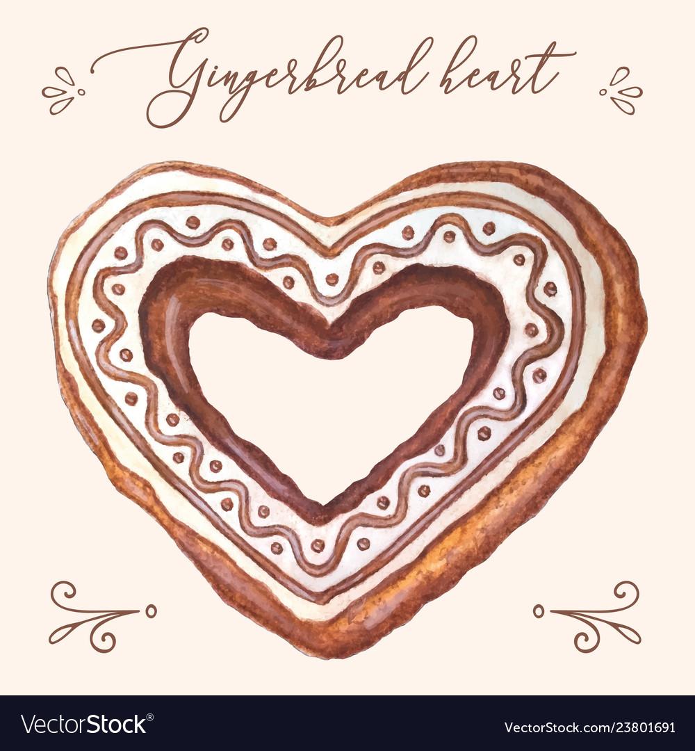 Gingerbread heart heart