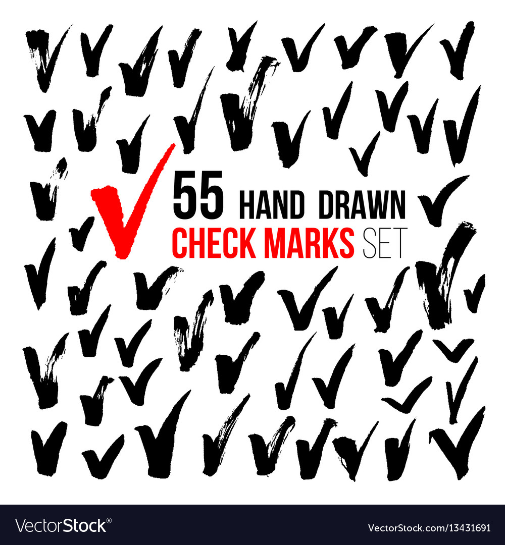 Hand drawn check marks