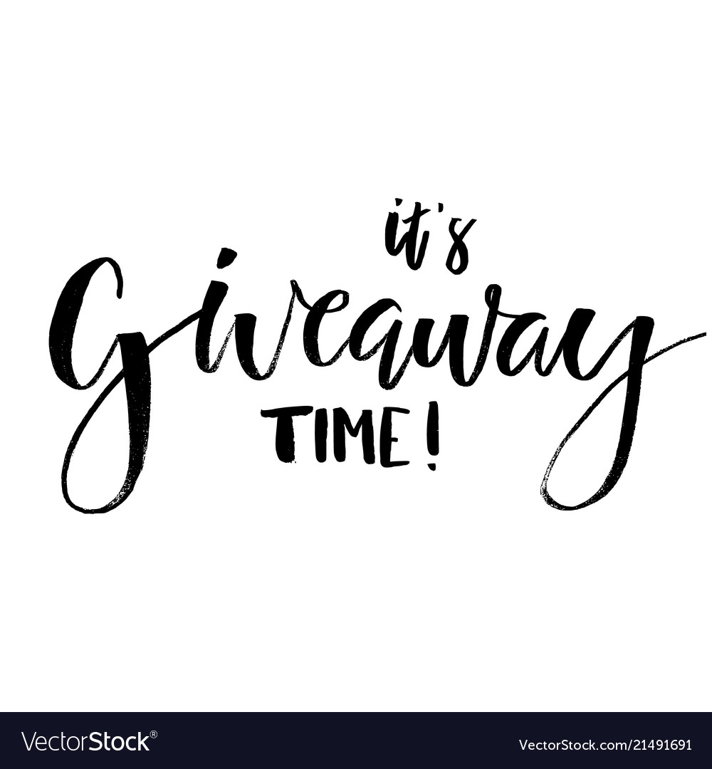 Its giveaway time lettering text typography for