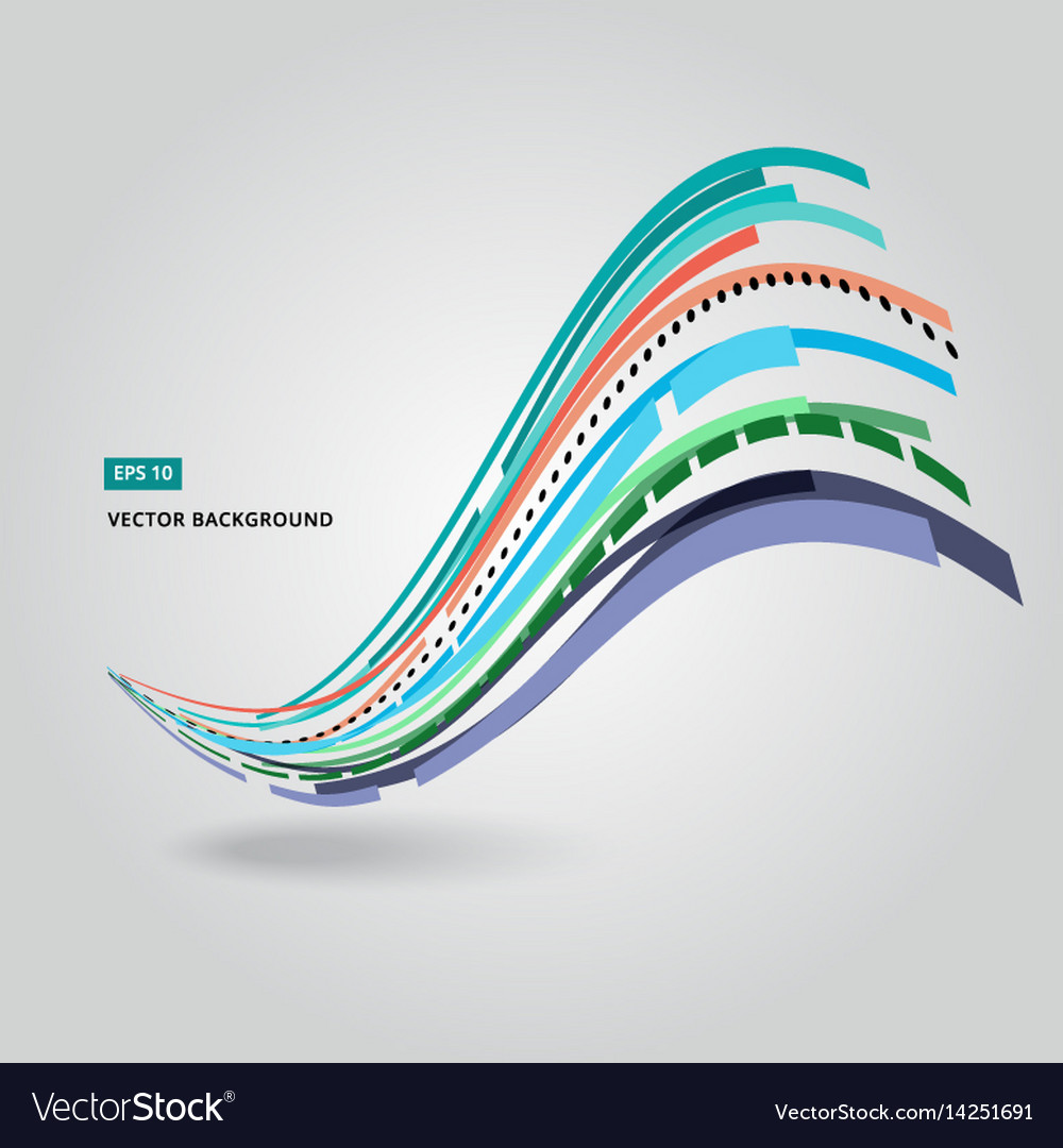Multi-color curve line abstraction