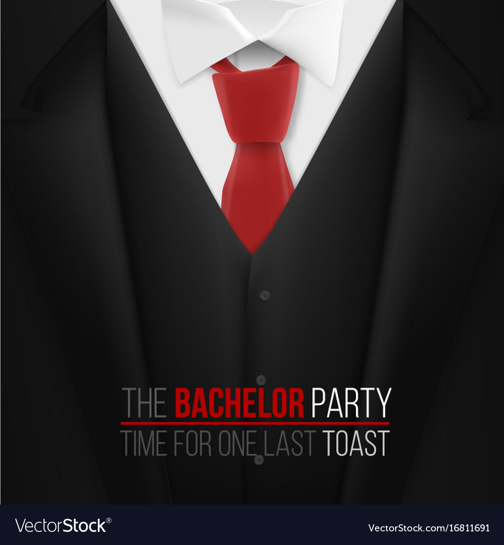 The bachelor party invitation template realistic vector image stopboris Gallery