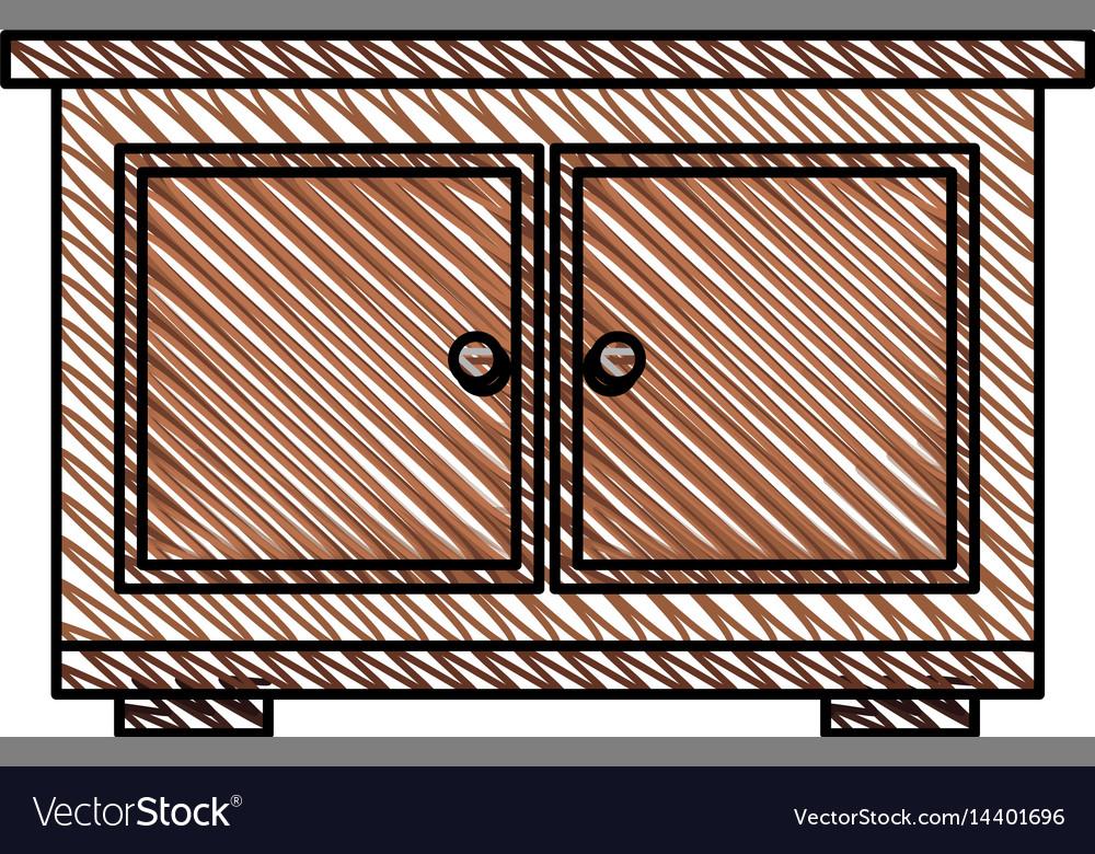 Bedside table furniture room vector image