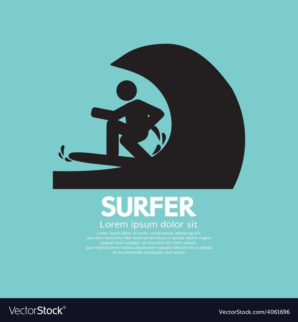 Black Symbol Surfer