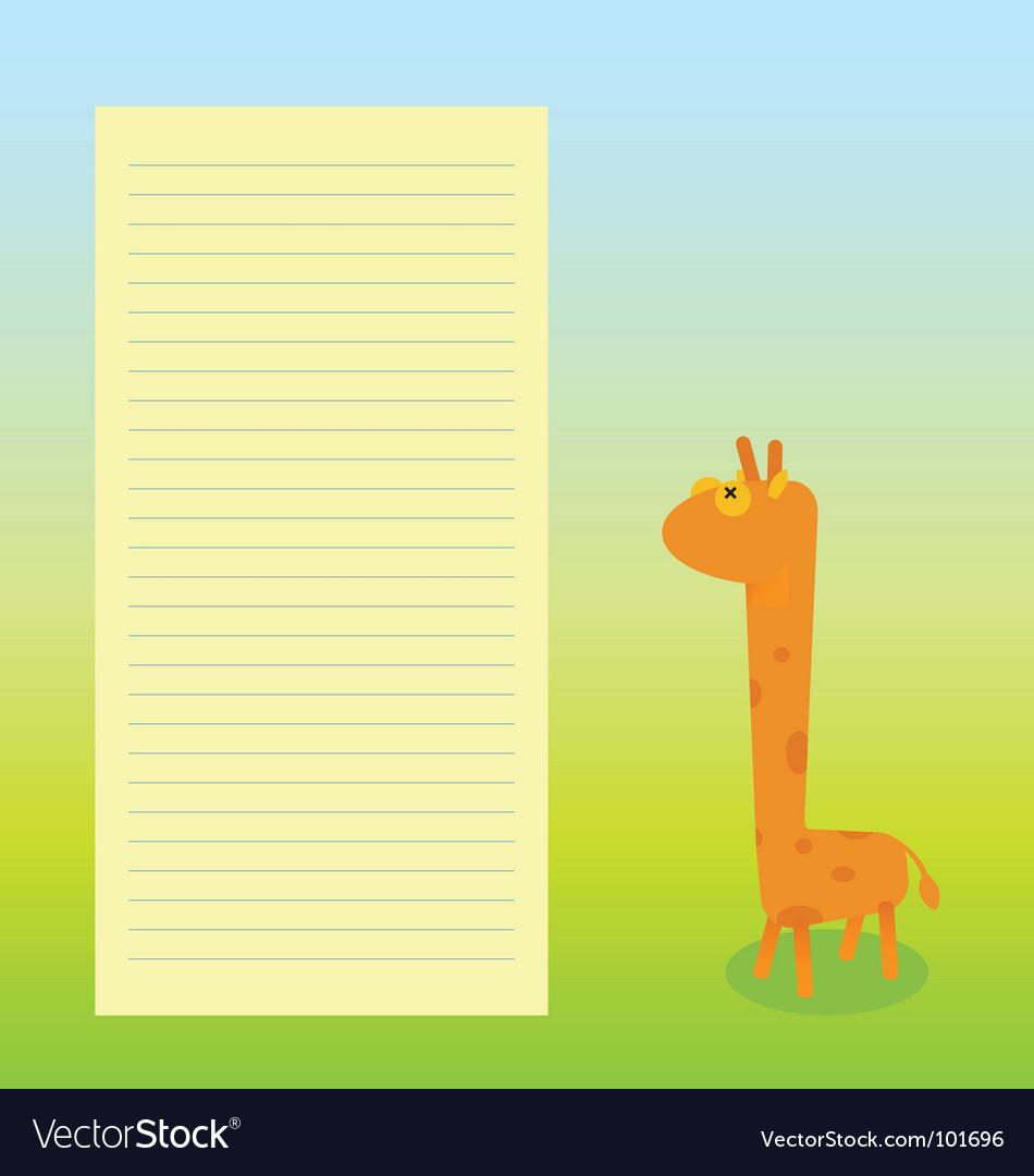 Giraffe sheet template