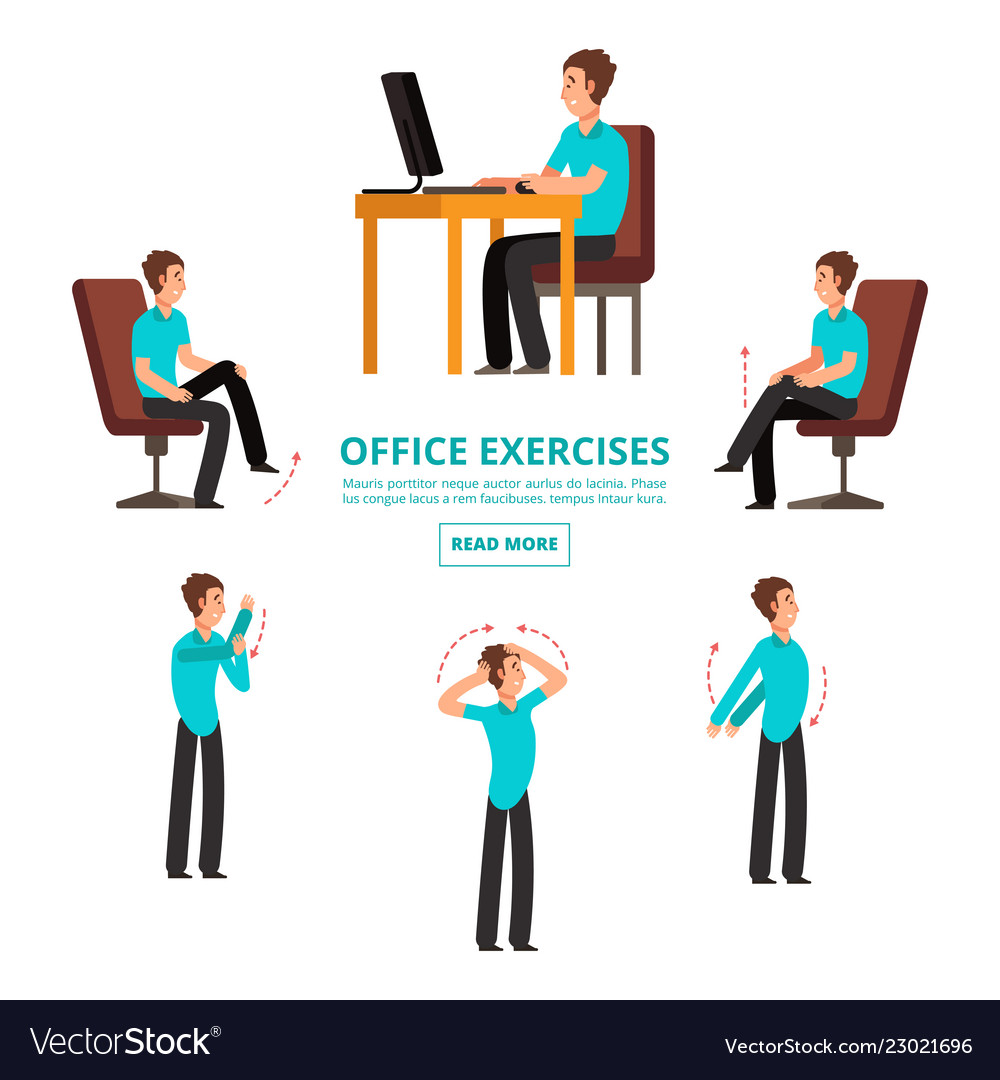office exercises info of set royalty free vector image