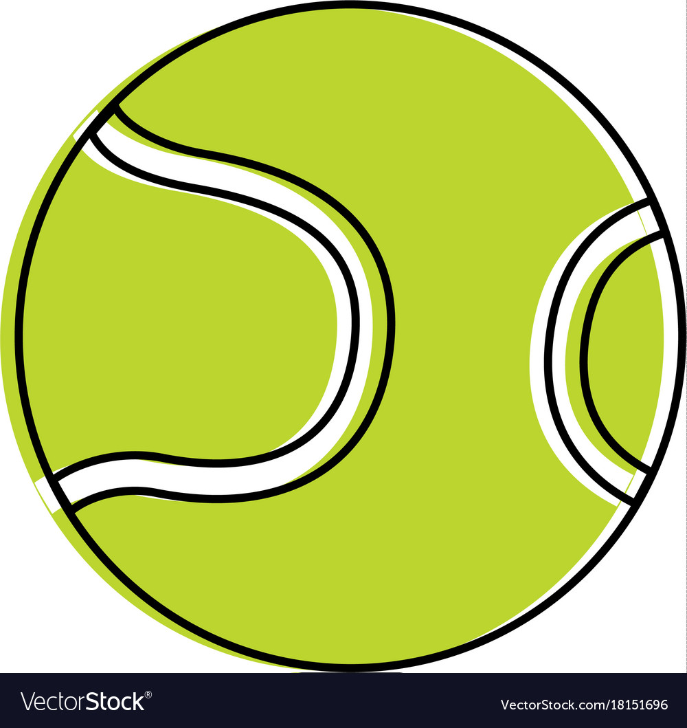 Tennis ball isolated icon