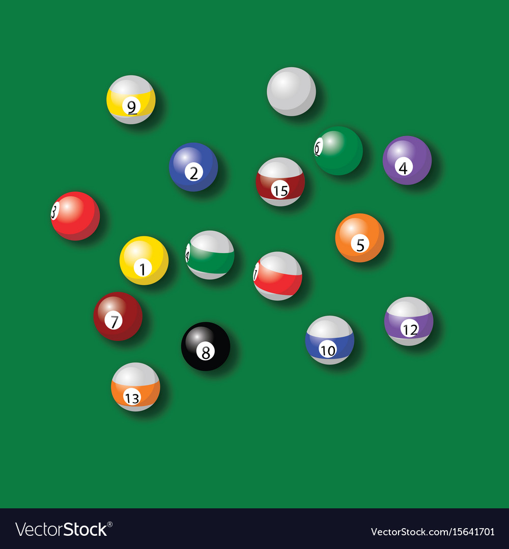 in pool photo with balls green billiard complimentary colour palette table a swatches stock