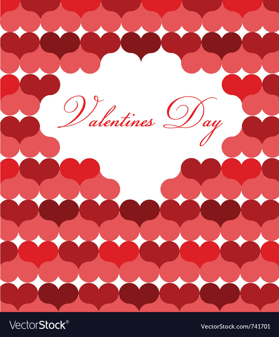 card template for valentine day royalty free vector image